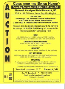 Binion Hoard Coin Auction Flyer 001